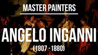 Angelo Inganni (1807 -1880) A collection of paintings 4K Ultra HD