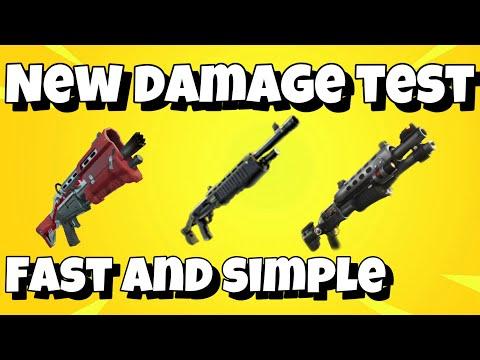 New Shotgun Damage Test Pump & Tac (fortnite)
