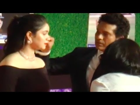 Sachin Tendulkar's CUTE MOMENT with daughter Sara at his film's premiere Red Carpet