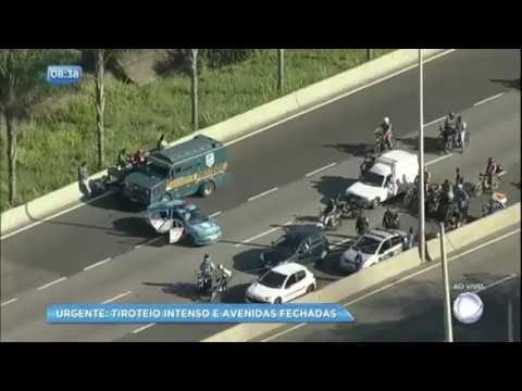 Rio de Janeiro tem tiroteio intenso e avenidas fechadas nesta quinta-feira (1º)