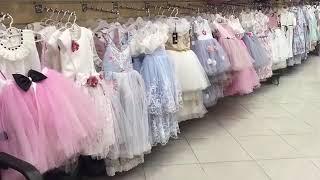 جولة بمحل ربيع الموضة فساتين بنات صغار السواريه الافراح  والسهرات /عالم مروة
