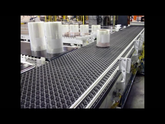 Activated Roller Belt Conveyor with Sortation