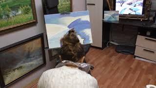 Уроки живописи маслом с Дмитрием Ревякиным. Зимний пейзаж