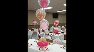 How to Make a Double Stuffed Balloon Centerpiece for a Baby Shower Theme Party
