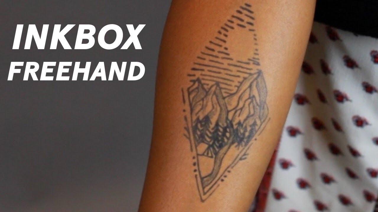 79cb40b9e inkbox freehand - Mountains. inkbox Tattoos
