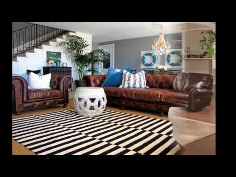 Living room ideas for brown leather couches
