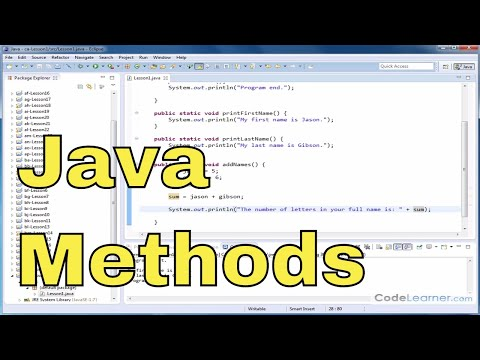 Java Programming Tutorial - 01 - Introduction To Methods