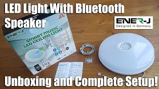 ENER-J LED Ceiling Light with Built-in Bluetooth Speaker