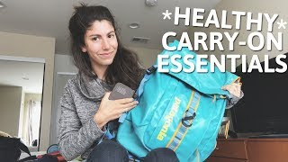WHAT I PACK IN MY CARRY-ON BAG | Healthy Travel Essentials!