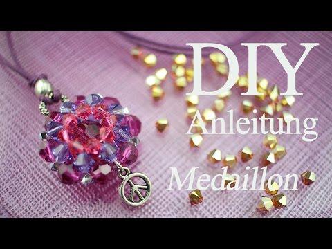Videoanleitung mit Swarovski-Kristallen ein Medaillon fädeln