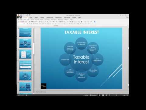 Tax Year 2016 - The Basics Lesson 4B 1099 - INT, DIV, C, and other forms of income
