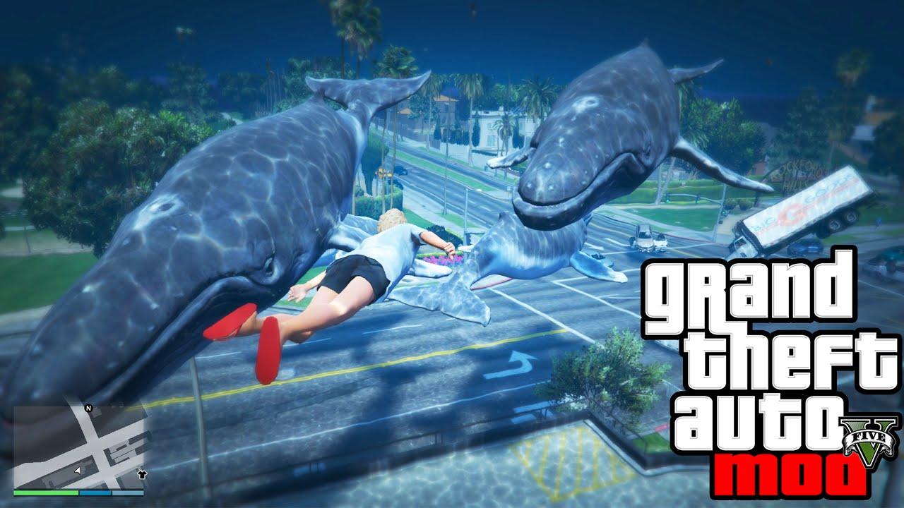 GTA 5 Mods - WHALE TSUNAMI MOD! GTA 5 Whale & Tsunami Mod ...