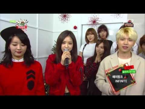 [ENG] 151225 Music Bank Christmas Special Apink (에이핑크) & INFINITE (인피니트) Interview