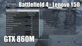 Battlefield 4 ULTRA - Lenovo Ideapad Y50 GTX 860M