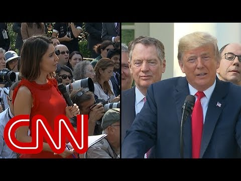 Trump\'s response to reporter elicits gasps