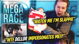 DELLOR FORTNITE MEGA RAGE *MAKES FUN OF TSM SLAPPIE RAGE* EP48
