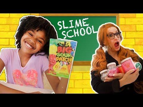 Slime School Students vs SLime Teacher! Candy Sneak in Class - New Toy School