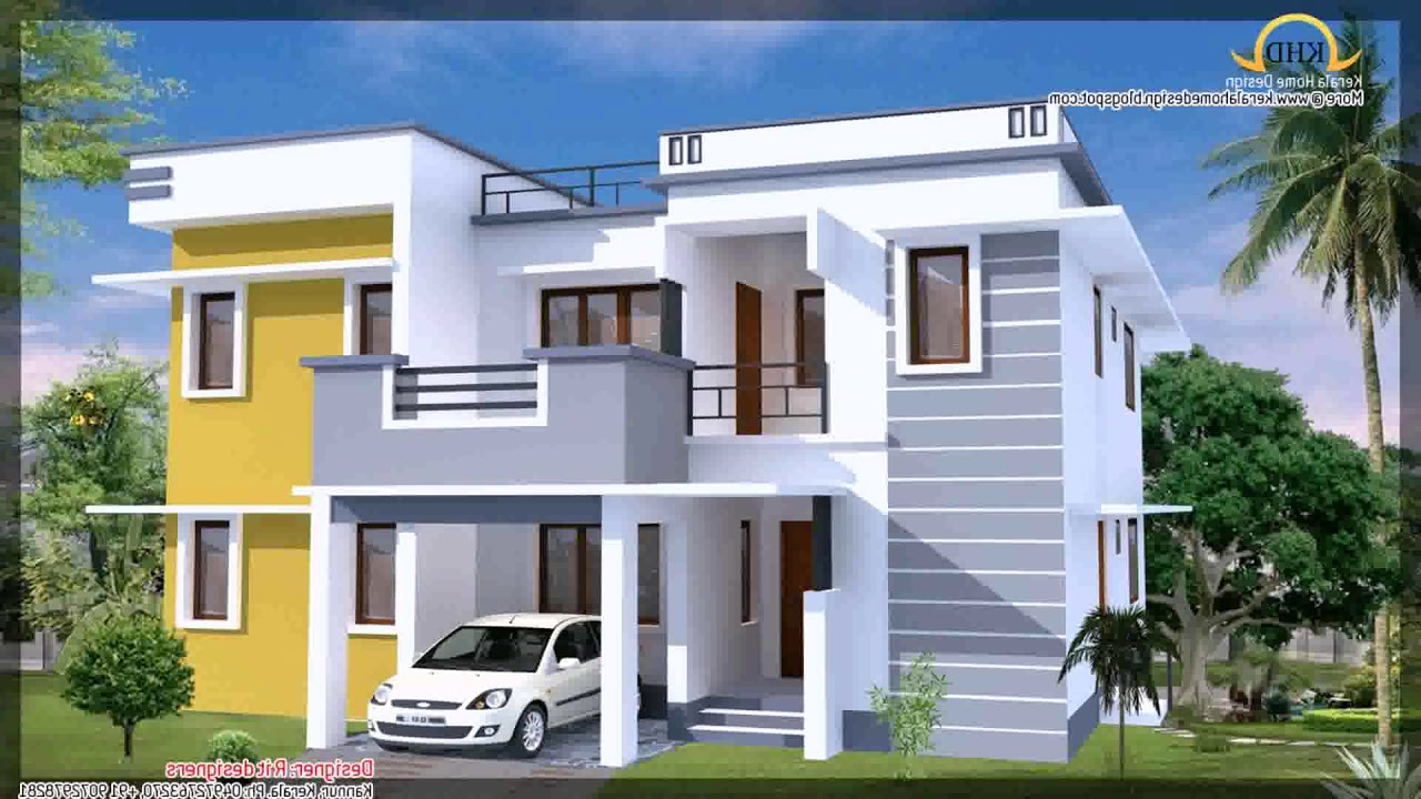 Front Elevation Colour Combination : House front elevation designs colour combination youtube