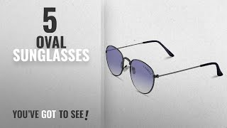 Top 10 Oval Sunglasses [2018]: Laurels Royal UV Protected Oval Shaped Unisex Sunglasses - Blue Lens