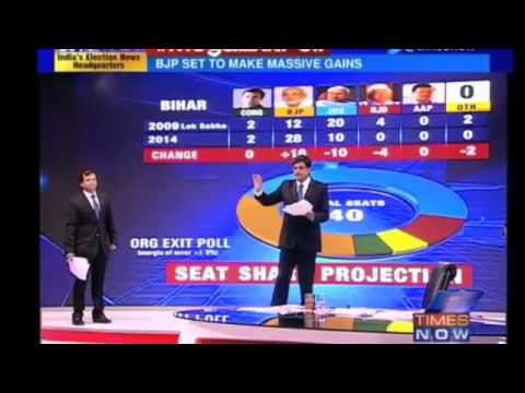 Post Poll Exit Polls 2014 -12 May 2014 - Indian media  - Times now