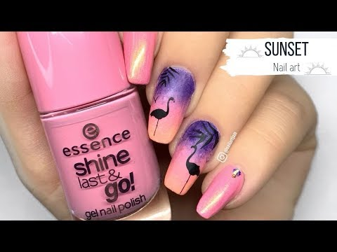 Sunset NAIL ART TUTORIAL thumbnail