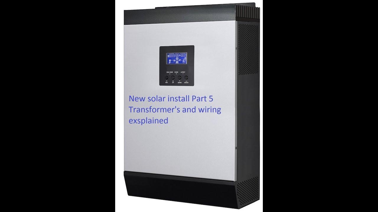 New Solar Install Part 5 Youtube 48v Wiring Diagram
