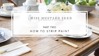 how to strip paint   part 2