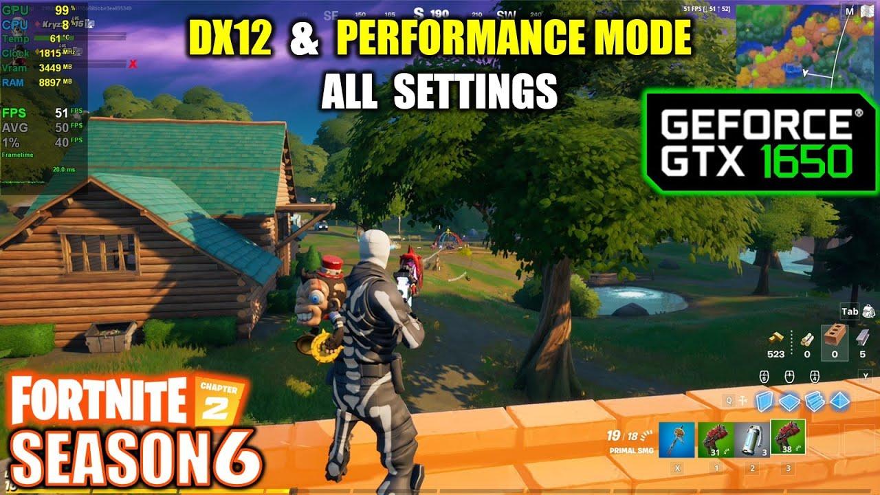 Fortnite Fps While In Game Gtx 1650 Fortnite C2 S6 1080p All Settings Performance Mode Youtube
