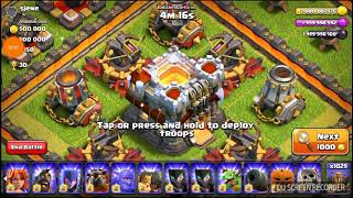 CLASH OF CLANS: TROLLING TOWN HALL 11 MAXED OUT WITH ONLY EARTHQUAKE SPELL!!!!!