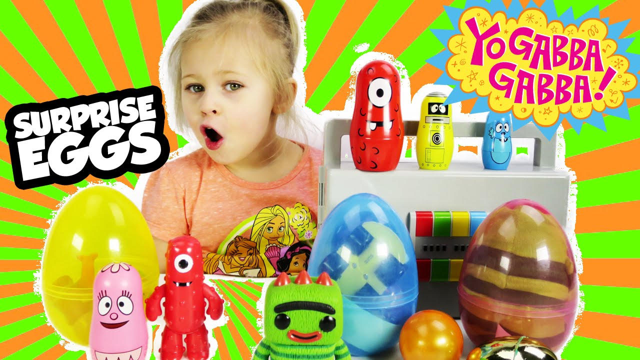 YO GABBA GABBA Surprise Eggs with Surprise Toys Including Brobee Foofa a Yo Gabba Gabba Toy Video - YouTube  sc 1 st  YouTube & YO GABBA GABBA Surprise Eggs with Surprise Toys Including Brobee ...