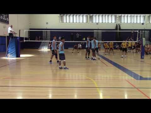 Clovis High Boys Volleyball vs Hawaii Baptist Academy  04-01-17 Set 3