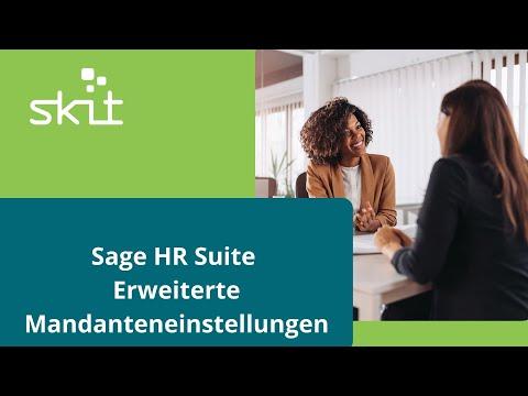 Sage HR Suite - Erweiterte Mandanteneinstellungen