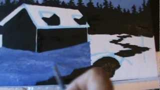 Видео 44 Часть 9. Как рисовать снег. рождество