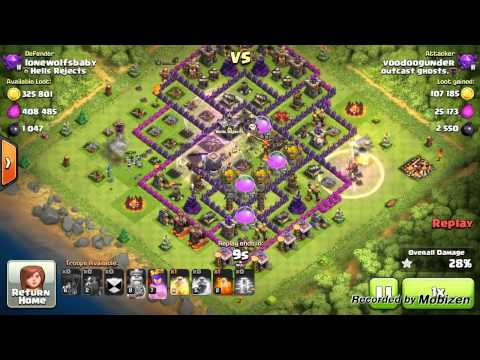 Clash of clans- troop placement and attacking.