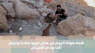 شمة هوانا اليوم من عمان مرورا بمادبا وذيبان الى وادي الهيدان
