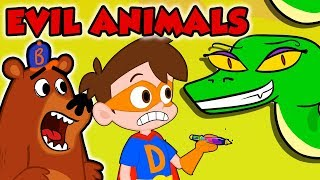 Best of Evil Animals at Cool School! - Compilation | The Jungle Book, Big Bad Wolf & More!