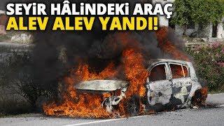 Bursa'da Seyir Hâlindeki Otomobil Alev Alev Yanarak Küle Döndü