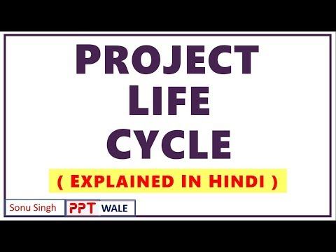 PROJECT LIFE CYCLE IN HINDI | Concept & Phases | Project Planning & Evaluation | BBA/MBA | Ppt