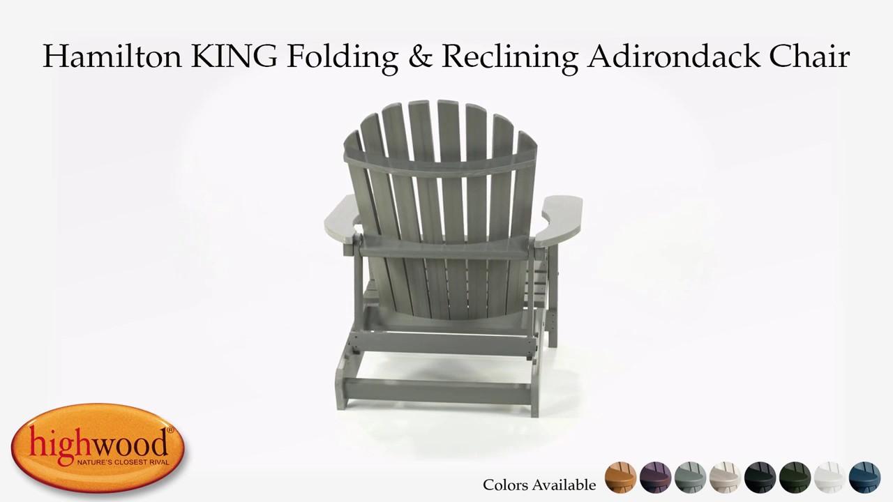 Hamilton KING Folding U0026 Reclining Adirondack Chair AD KING1