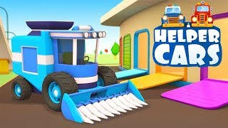 Helper Cars Cartoon: Learn Farm Vehicles for Kids - Tractors for Kids