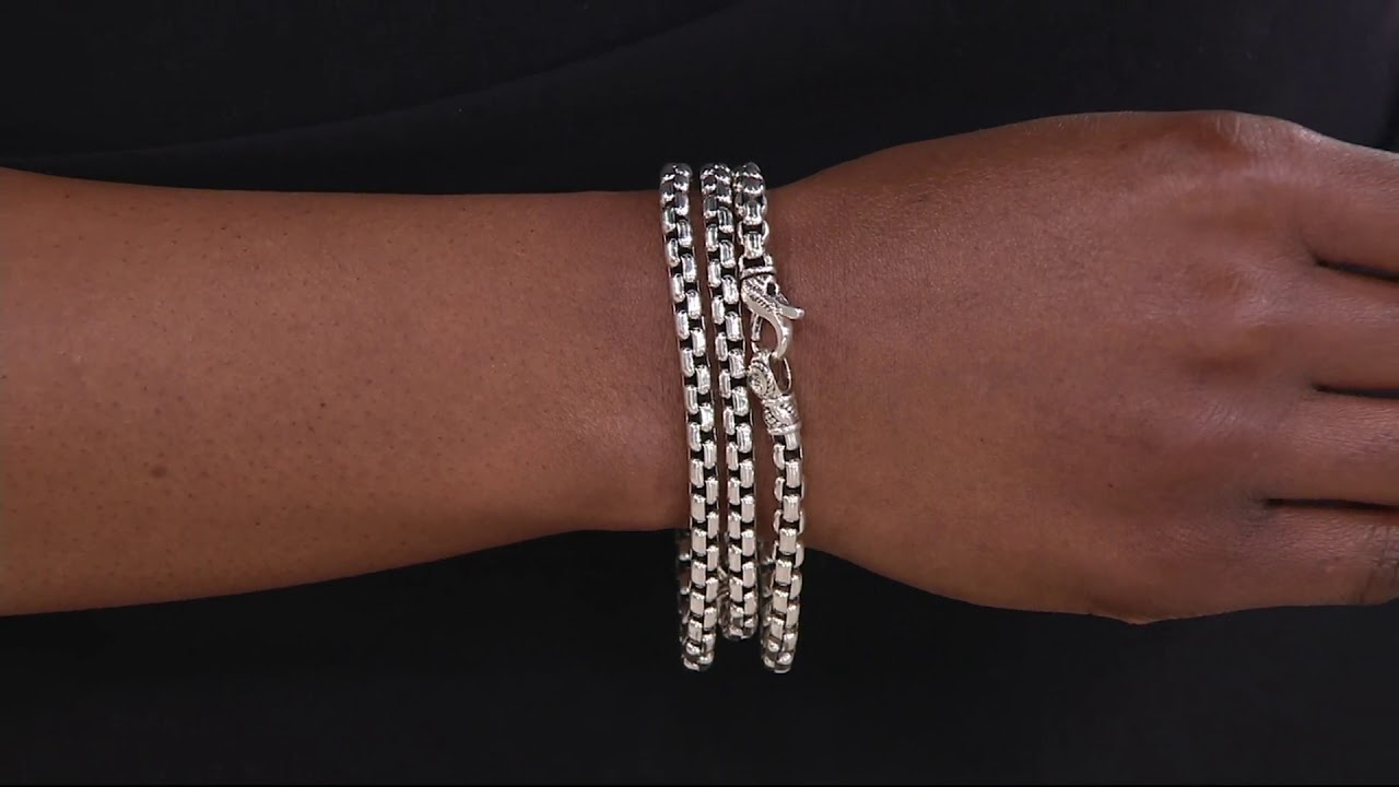 Jai Sterling Silver Round Box Chain