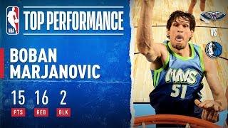 Boban Marjanovic Drops Season-High 15 PTS With 16 REB