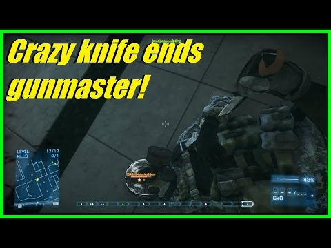 BF3 - Back to Close quarters maps! | Crazy knife kill ends g