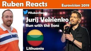 Jurij Veklenko - Run With The Lions - Lithuania 🇱🇹 - Eurovision 2019 - Reaction