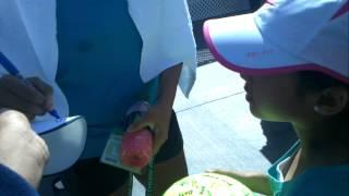 Sania Mirza signing autographs, indian wells 2012
