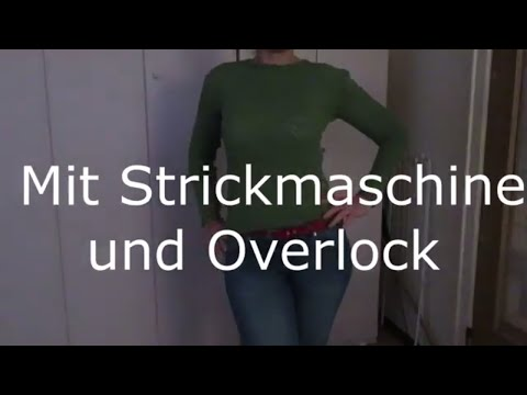 Youtube-Tutorial: Pullover stricken dann Nähen