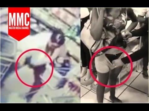 Ibu-Ibu Tertangkap CCTV Maling Di Alfamart Dimasukin CD 2017 thumbnail