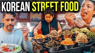 Foreigners FIRST REACTION to AMAZING KOREAN STREETFOOD in Seoul - Korea Vlog