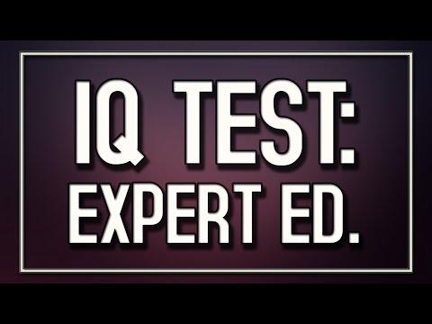 IQ Test: Expert