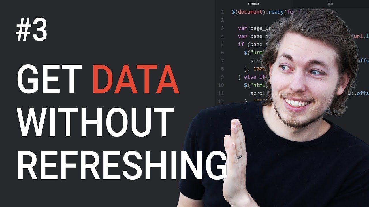 3: Get data from a database without refreshing the browser using AJAX -  Learn AJAX programming